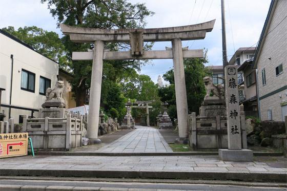 京都府藤森神社の鳥居