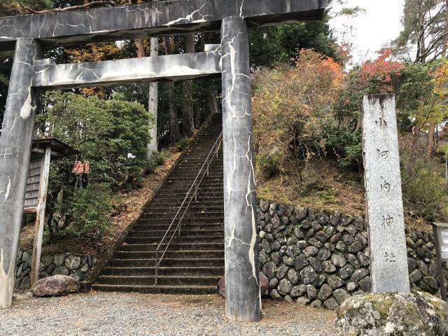 東京都小河内神社の鳥居