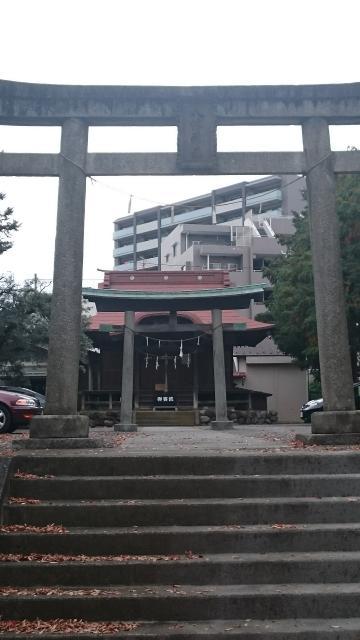 東京都乞田八幡神社の鳥居