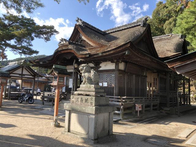 滋賀県白鬚神社の本殿