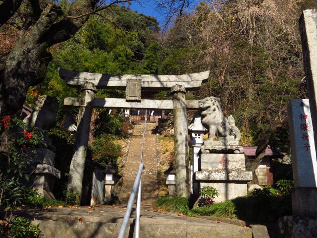 山梨県黒戸奈神社の鳥居