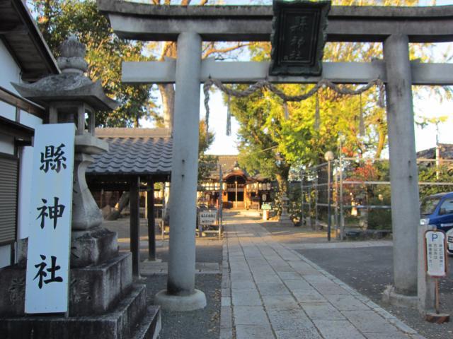 平等院の近くの神社お寺|縣神社