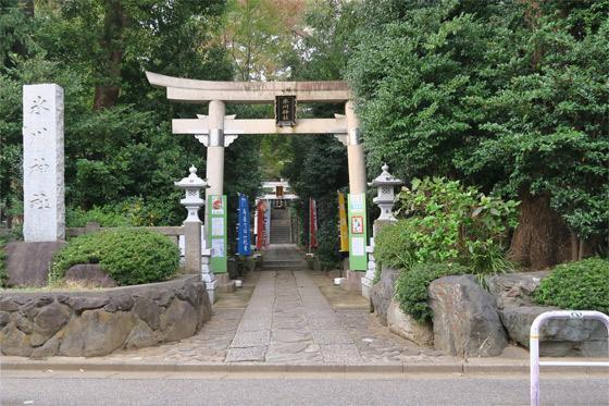 東新町氷川神社(東京都ときわ台駅) - 鳥居の写真