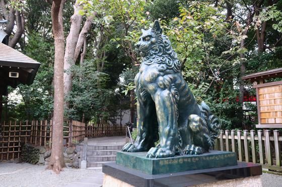 東新町氷川神社(東京都ときわ台駅) - 狛犬の写真