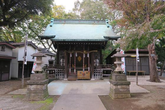 東京都大谷口氷川神社の本殿