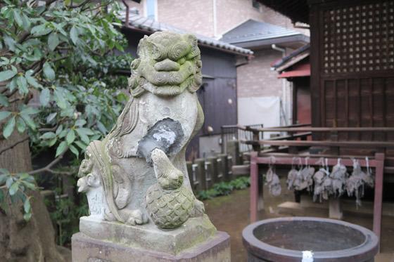 轡神社の狛犬