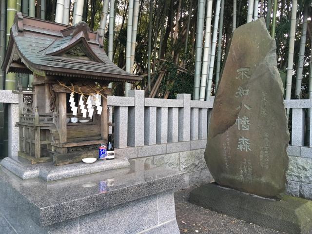 千葉県不知森神社の本殿