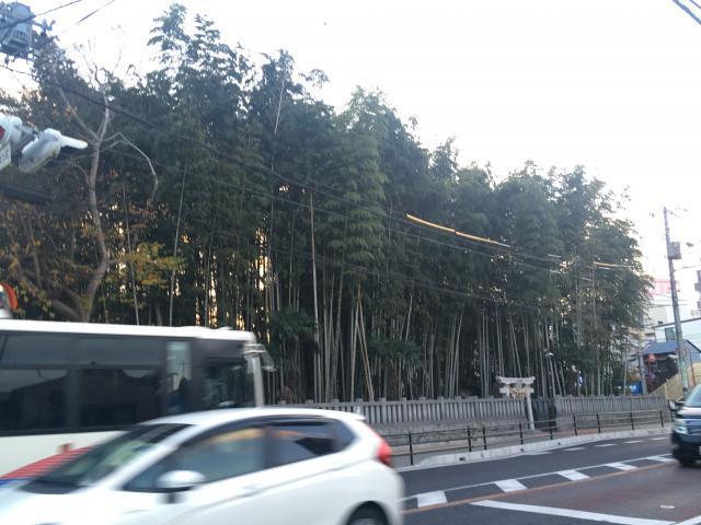 不知森神社の周辺