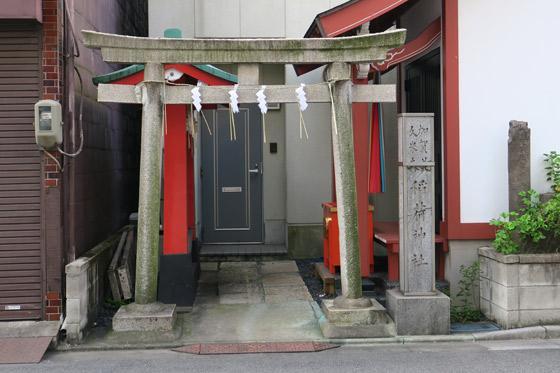 粂森稲荷神社の鳥居