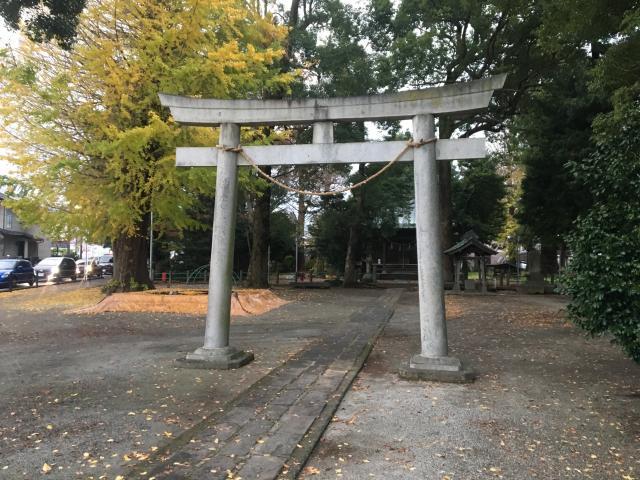 神奈川県井細田八幡神社の鳥居