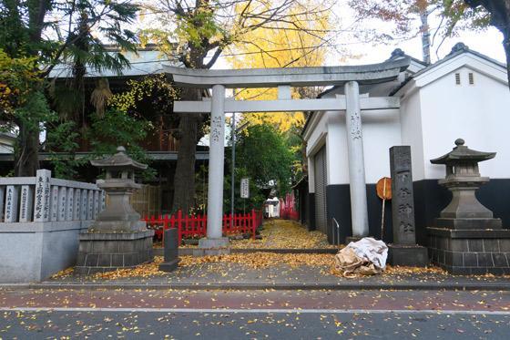 東京都下谷神社の鳥居