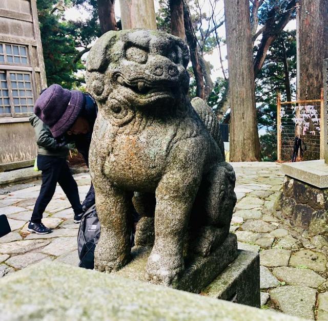 砥鹿神社(奥宮)の狛犬
