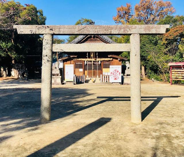 愛知県伊久智神社の鳥居