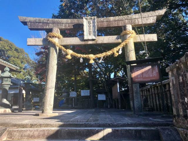 愛知県滝山東照宮の鳥居