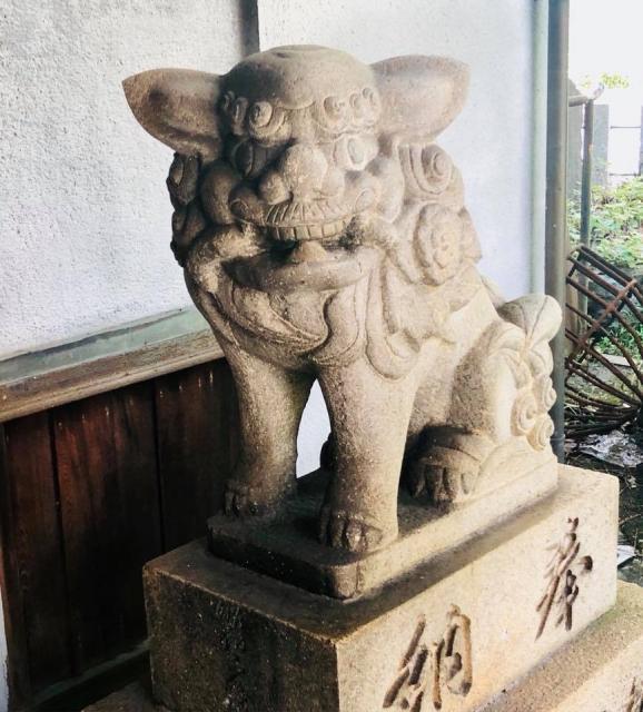 愛知県波寄神社の狛犬
